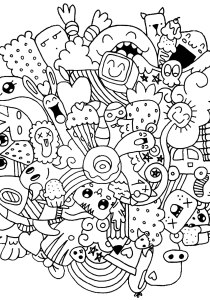 Doodle Art / Doodling - Coloring Pages for Adults0