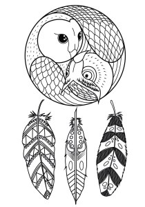 Dreamcatchers - Coloring Pages for Adults3