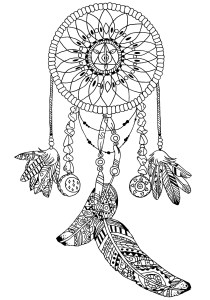 Dreamcatchers - Coloring Pages for Adults0