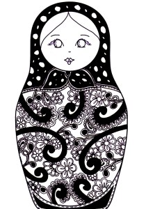 Russian dolls - Coloring Pages for Adults10