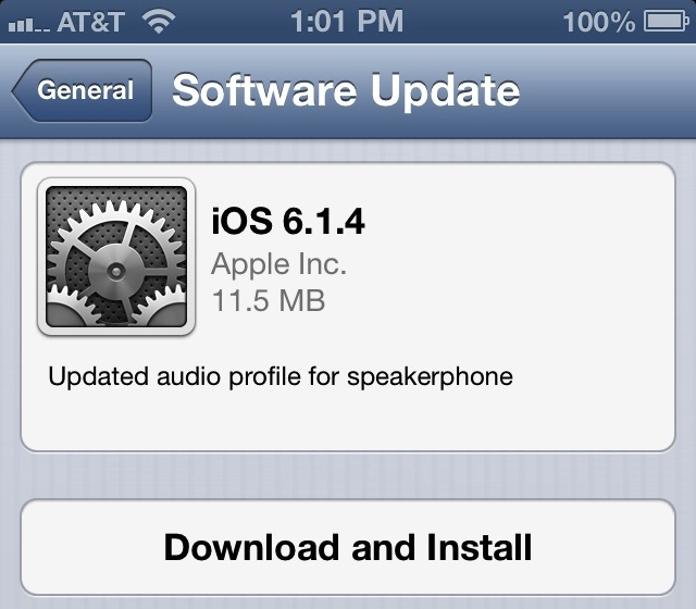 Apple Releases iOS 6.1.4 for iPhone 5