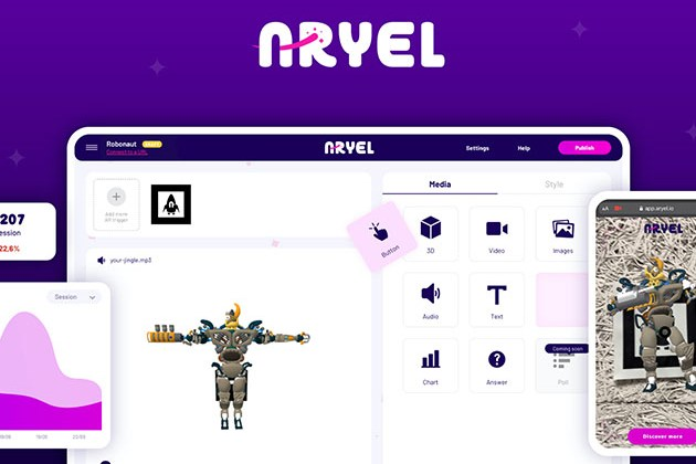 Aryel AR Marketing Platform: Lifetime Subscription for $69