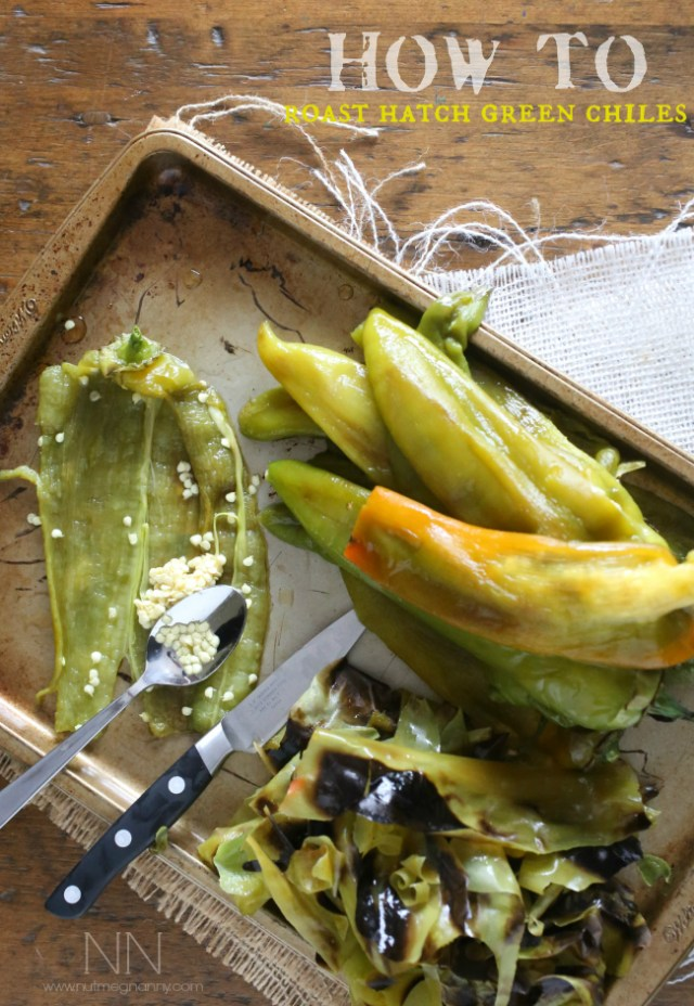 beautifully roasted hatch green chiles