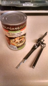 Both can and can opener need to be fully cleaned before use.