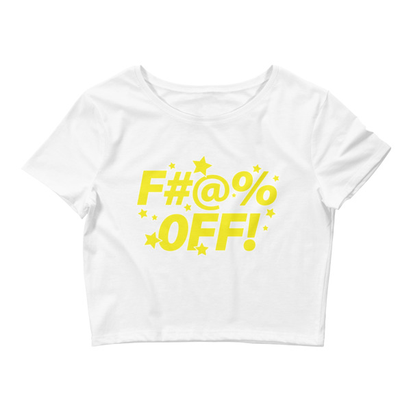 88fde78c4de035 Yellow F Star - Women s Crop Tee - I Hate People