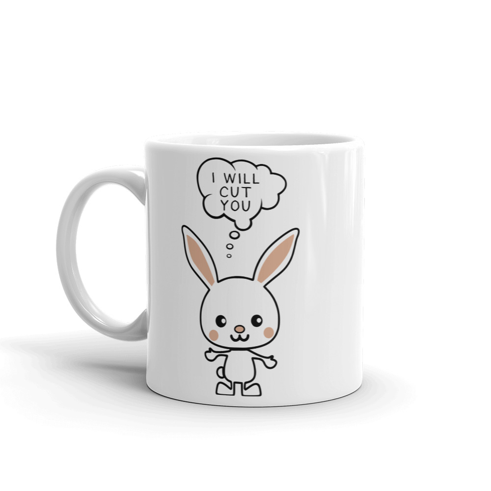 I Will Cut You Bunny Coffee Mug