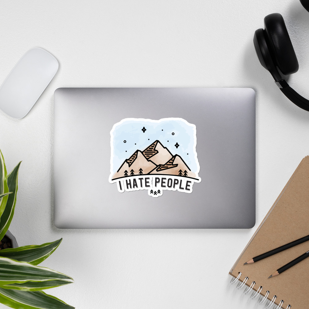 I Hate People Mountains Sticker