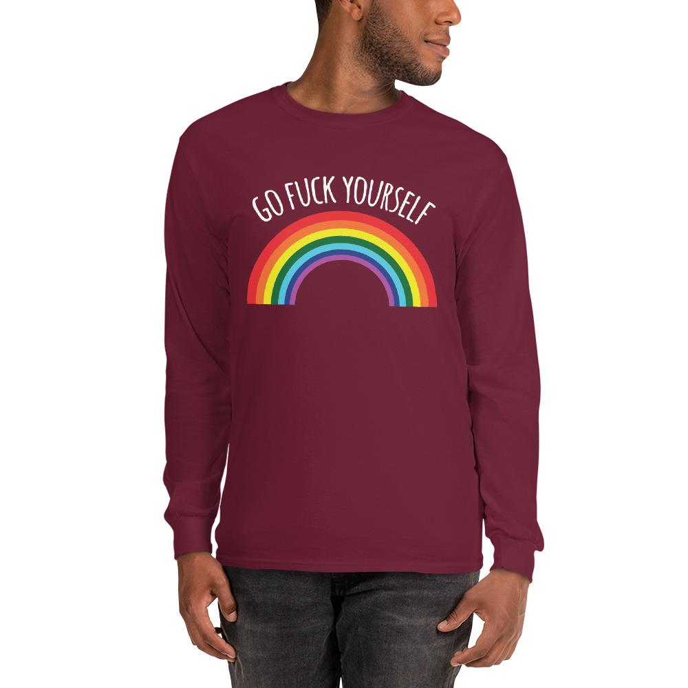 Go Fuck Yourself Rainbow Long Sleeve Shirt