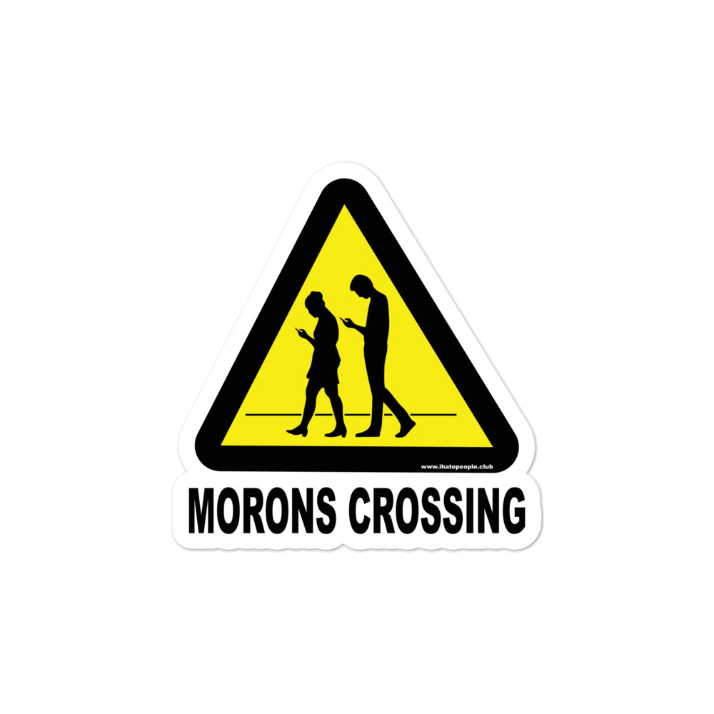Zombies Crossing Sticker