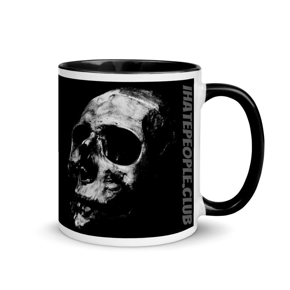 Black and Grey Skull Coffee Mug