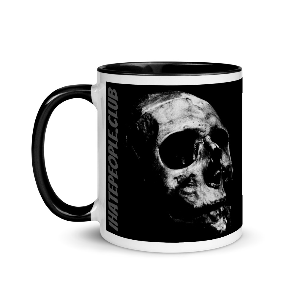 Black and Grey Skull Coffee Mug