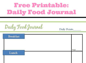 Free Printable: Daily Food Journal
