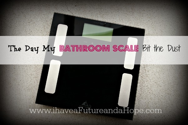 The day my bathroom scale bit the dust……