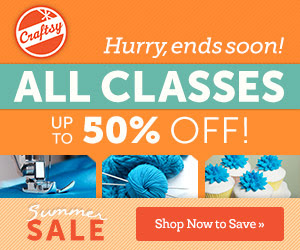 August Big Course Sale at Craftsy! Save 50%
