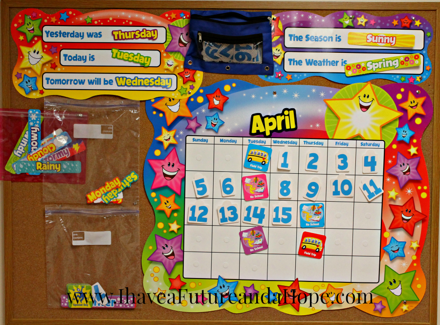 Daily Learning Calendar: 31 Days of Homeschool Supplies