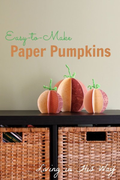 Paper Pumpkins, Fall Decor, and Lattes: It's PYP #22