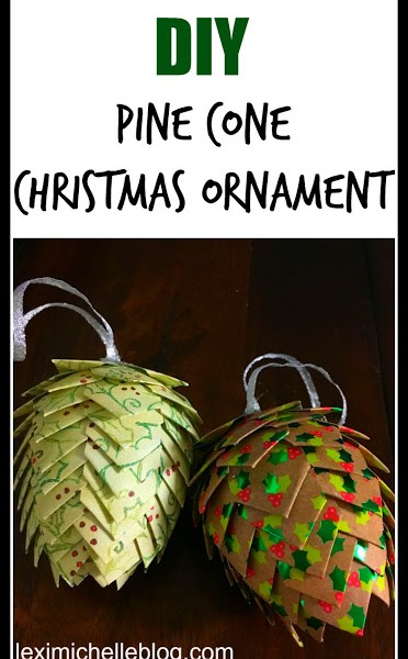 Paper Pine Cone Ornaments and Body Balance: Pick your Pin 29
