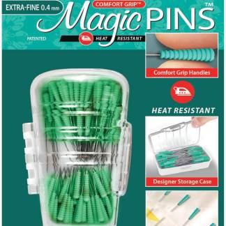 Magic Pins for Patchwork Extra-Fine Comfort Grip Magic Pins