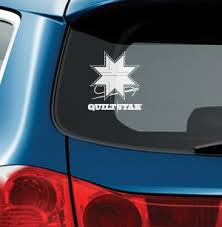 the Quilt Star graphic on a car