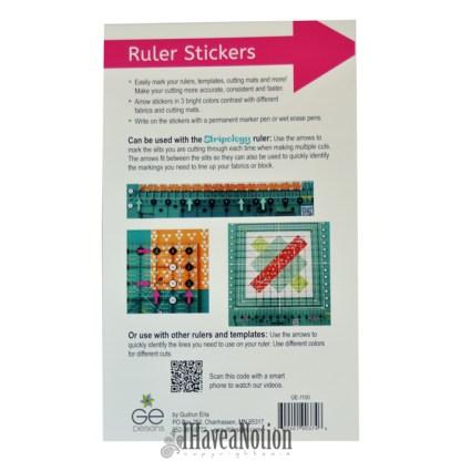 Reverse of GEasy Ruler Stickers