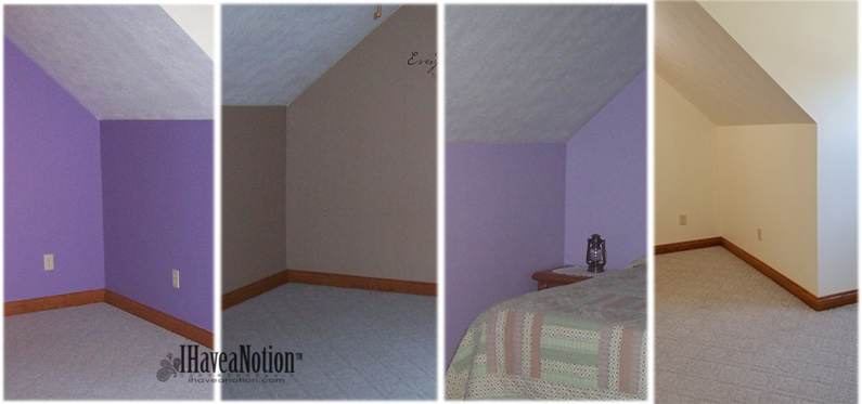 Paint upstairs-old and new