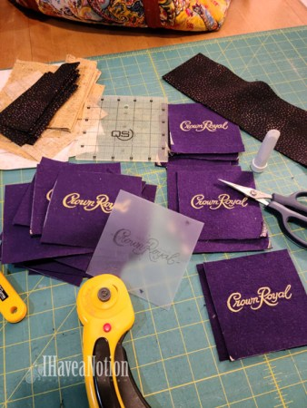 Preparing to sew the CR Quilt