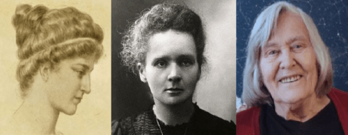 donne nella scienza: Ipazia, Curie, Hack