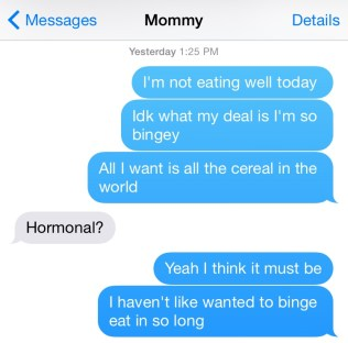 mom text