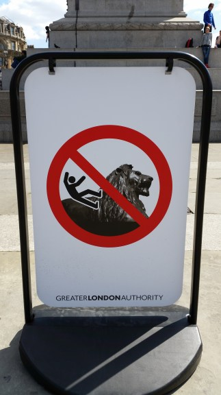 Lots of rules at Trafalgar Square