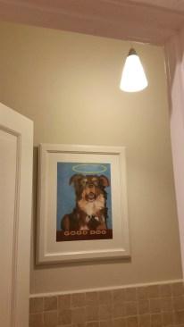 Bathroom Zeke painting