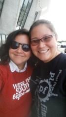 Dulles sister goodbyes