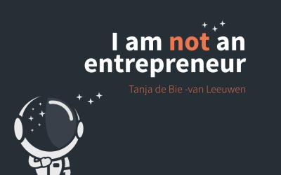 "Creative Mornings Utrecht ""I'm not an entrepreneur"" (reality)"