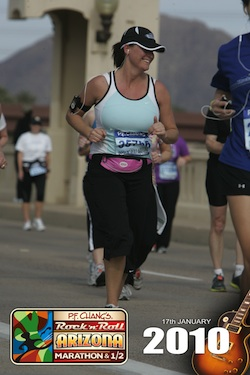 running in Arizona Rock and Roll marathon