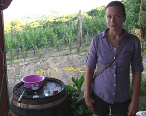 me out in the VIneyards