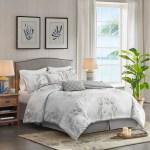 Harbor House Coastline Queen Size Bed Comforter Set 100 Cotton Bedroom Comforters 4 Pieces Bedding Sets Jacquard Coastal Coral Blue Home Kitchen Bedding