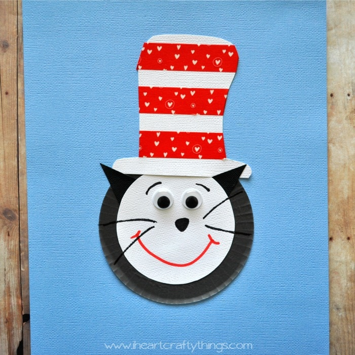 Cupcake Liner Cat In The Hat Craft For Kids