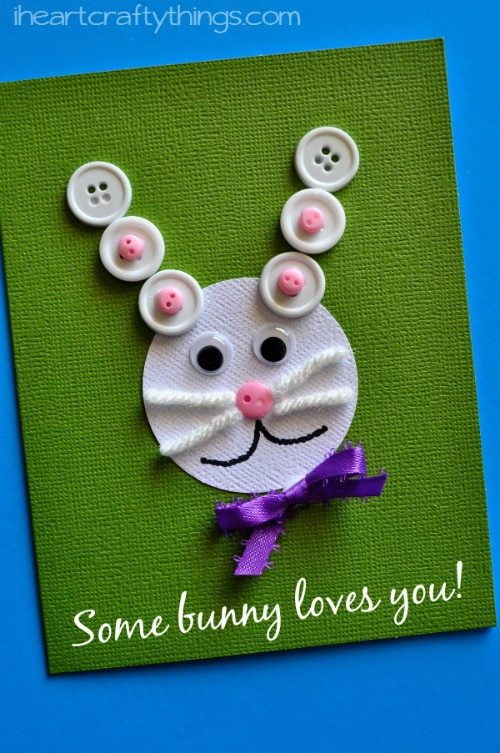 Easter Kids Craft Some Bunny Loves You Card I Heart