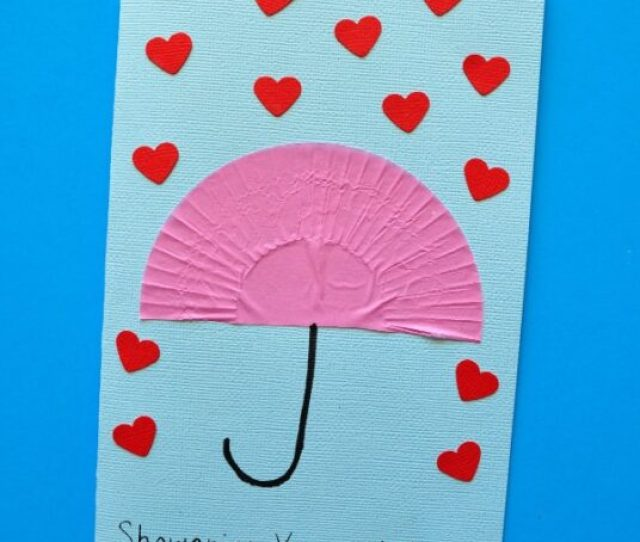 Liners And We Thought Of Another Fun Card That Will Shower Your Mother With Love Just Like Our First Card This One Is Super Simple For Kids To Make