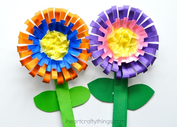 Bright and Colorful Flower Craft for Kids   I Heart Crafty Things Bright and colorful paper bowl Flower Craft for kids  perfect for a spring  kids craft