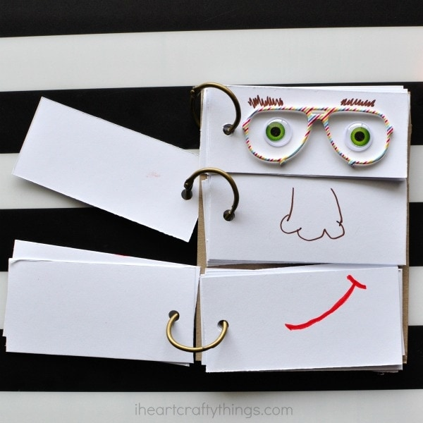 diy-funny-face-flip-book