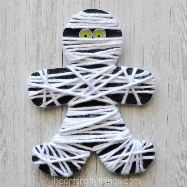Yarn Wrapped Mummy, by I Heart Crafty Things