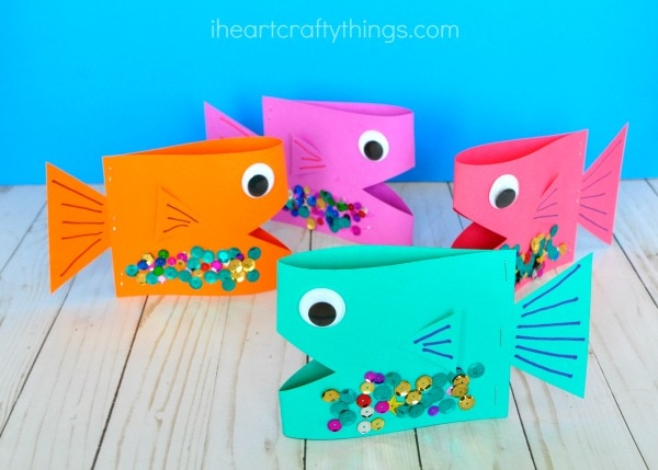 Super Cute Paper Fish Craft I Heart Crafty Things