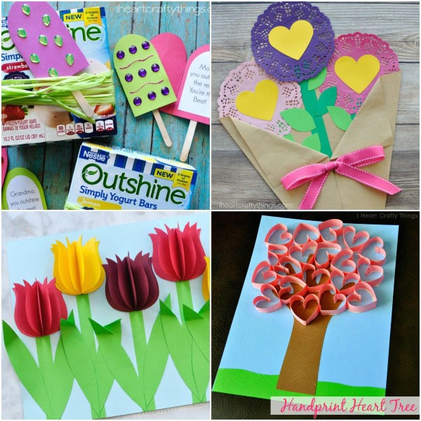 Crafts help kids show their creative side. 10 Adorable Mother S Day Card Ideas Kids Can Make I Heart Crafty Things