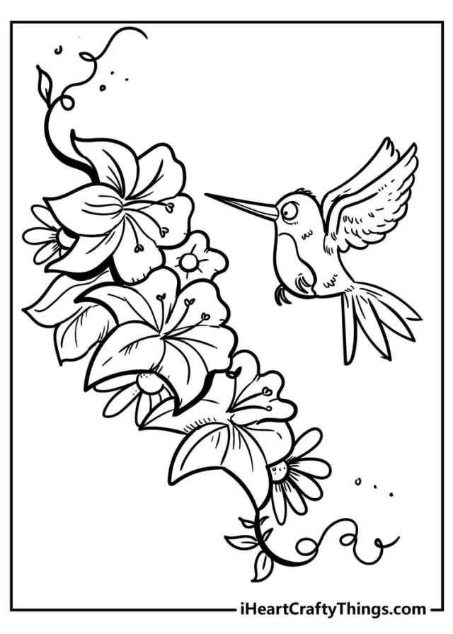 New Beautiful Flower Coloring Pages - 20% Unique (20)