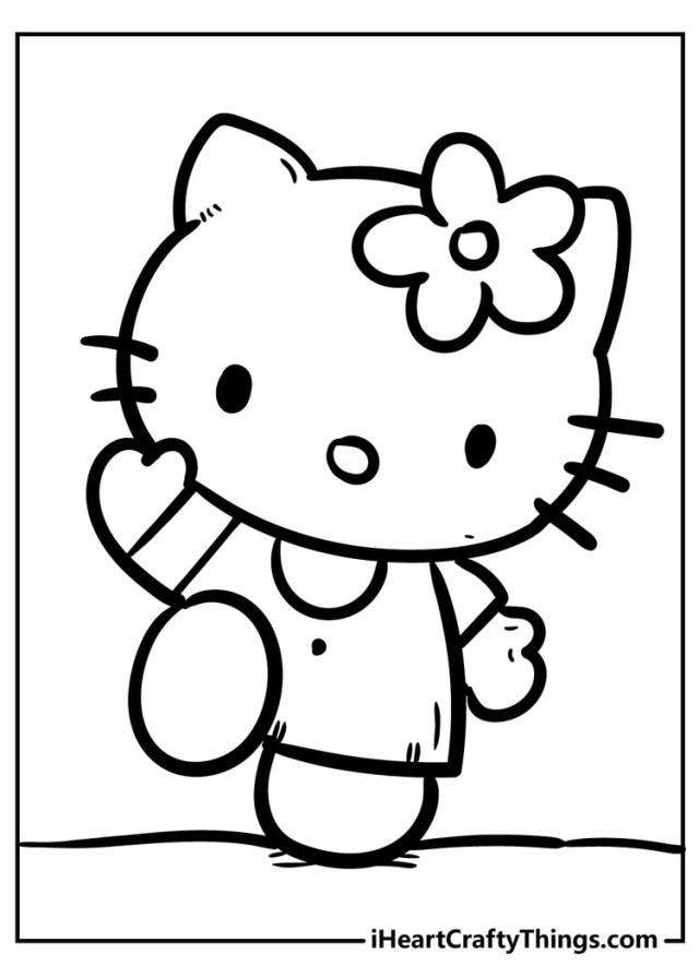 Hello Kitty Coloring Pages - Cute And 21% Free (21)