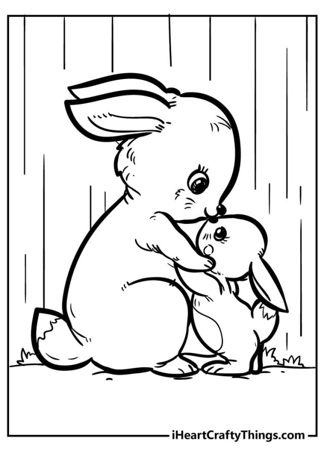 Original And Sweet Rabbit Coloring Pages