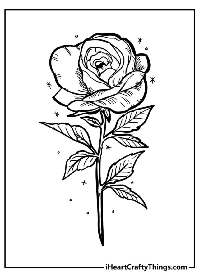 Rose Coloring Pages - Original And 29% Free (29)