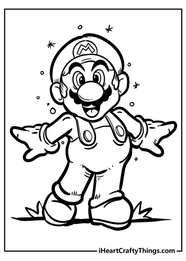 Super Mario Bros Coloring Pages - New And Exciting (21)