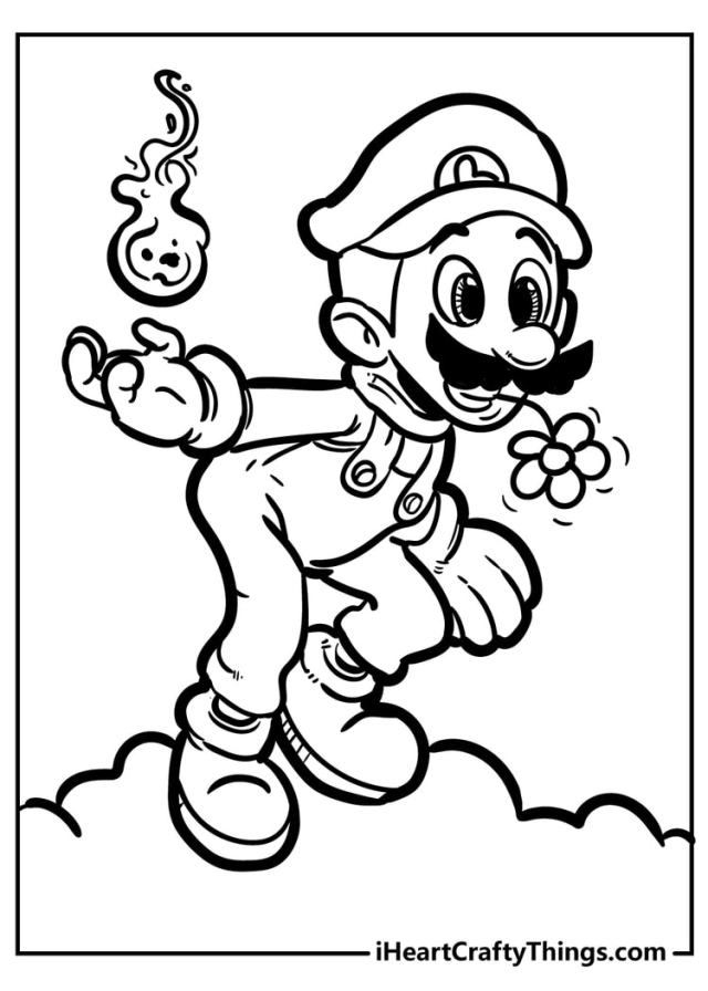 Super Mario Bros Coloring Pages - New And Exciting (24)
