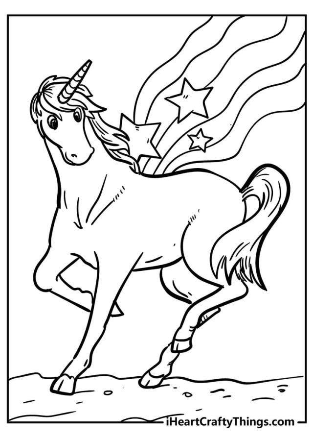 Unicorn Coloring Pages - 25 Magical Unique Designs (25)